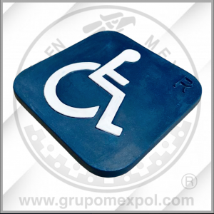 Placa de señalización Concreto Polimerico